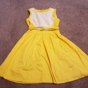 London Style Size 16 Yellow Dress